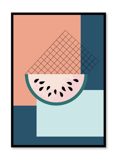 Minimalist poster by Opposite Wall with Geographic Watermelon abstract art