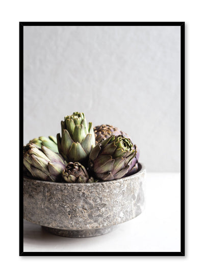 Minimalist poster by Opposite Wall with Artichoke Bowl food photography