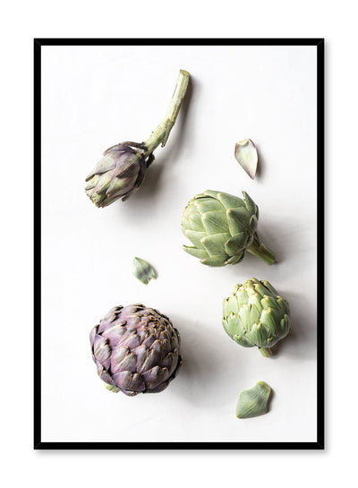 Minimalist poster by Opposite Wall with Artichokes food photography