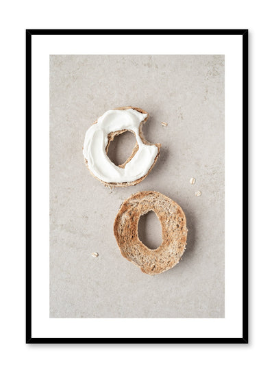 Scandinavian poster by Opposite Wall with Bagel Bite food photography