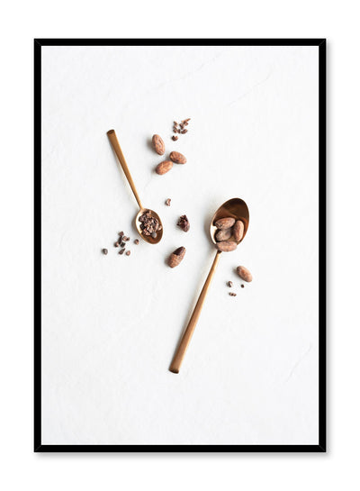 Minimalist poster by Opposite Wall with Cacao food photography