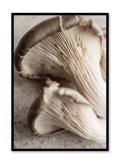 Minimalist poster by Opposite Wall with Champignon food photography