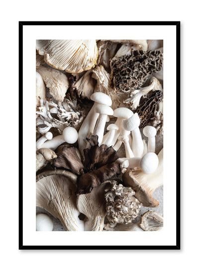 Scandinavian poster by Opposite Wall with Fungi mushroom close-up food photography