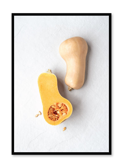 Scandinavian poster by Opposite Wall with Butternut squash photography on white
