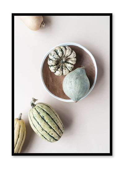 Minimalist poster by Opposite Wall with Winter Squash food photography