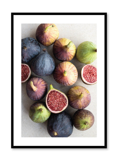 Scandinavian poster by Opposite Wall with Ficus Carica fig food photography