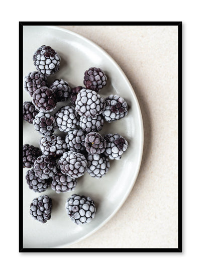 Scandinavian poster by Opposite Wall with Snack Time blackberries on plate food photography