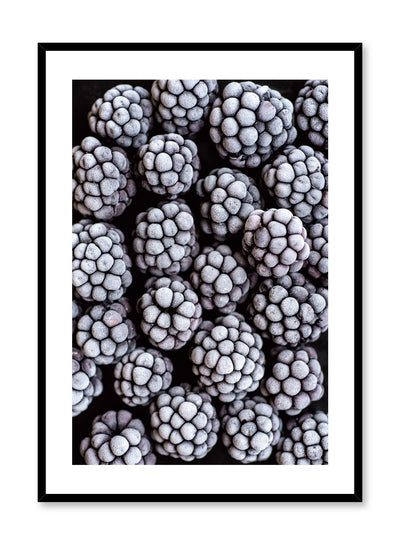 Scandinavian poster by Opposite Wall with frozen blackberries food photography close-up