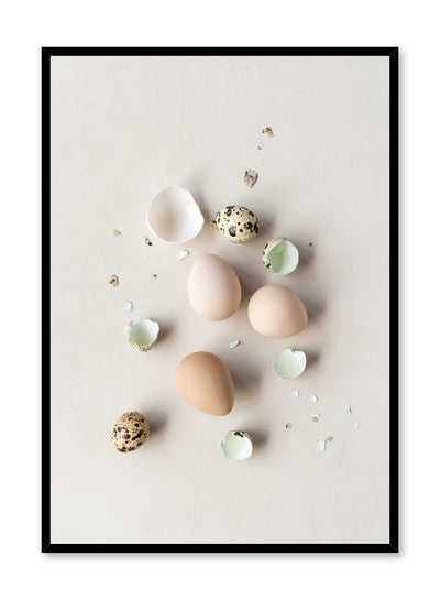 Minimalist poster by Opposite Wall with Cracked Up food egg photography