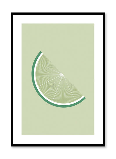 Minimalist poster by Opposite Wall with lime graphic illustration