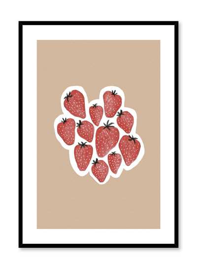 Minimalist poster by Opposite Wall with strawberries food illustration