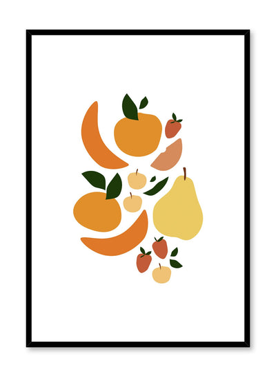 Minimalist poster by Opposite Wall with Fruit Salad illustration