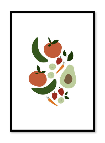 Minimalist poster by Opposite Wall with veggies vegetables food illustration