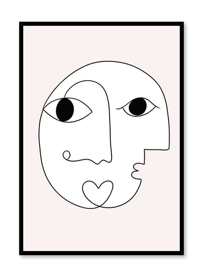 Modern minimalist abstract poster by Opposite Wall with Eye See You design by Shatha Al Dafai
