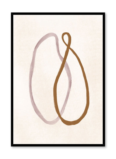 Modern minimalist poster by Opposite Wall with abstract design of Anxious by Toffie Affichiste