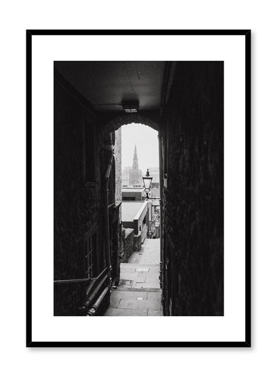 Modern minimalist poster by Opposite Wall with photography of narrow alleyway in Scotland