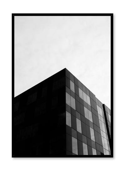 Modern minimalist poster by Opposite Wall with black and white architecture photography of office building