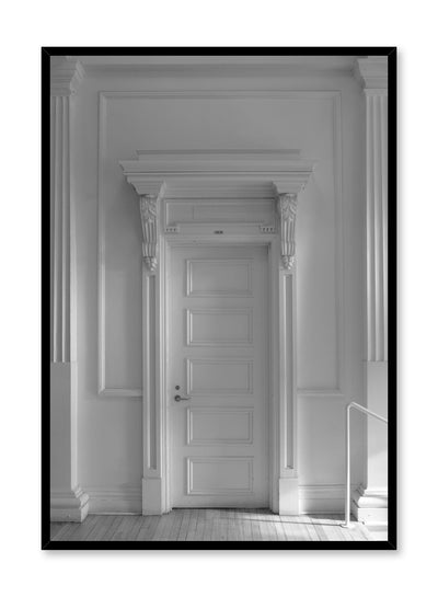 Modern minimalist poster by Opposite Wall with black and white photography of door
