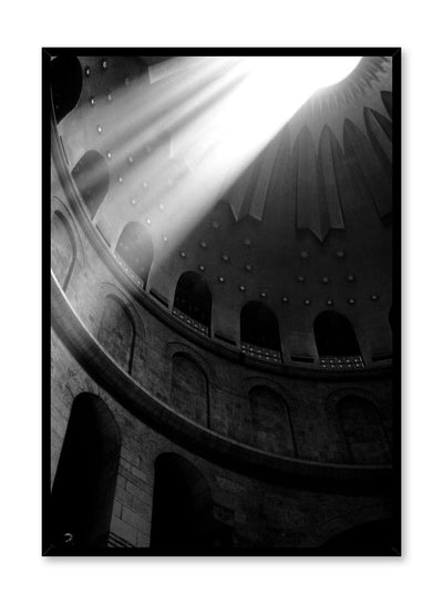 Modern minimalist photography by Opposite Wall with black and white photography of light coming into a cathedral