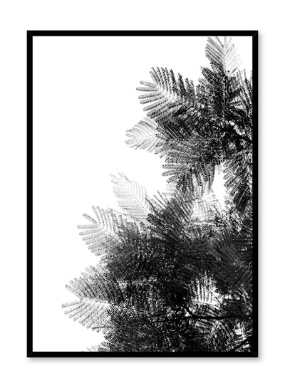 Modern minimalist poster by Opposite Wall with black and white photography of pine tree
