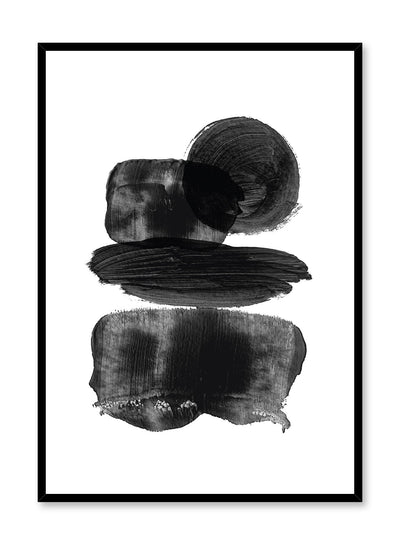Modern minimalist poster by Opposite Wall with black paint in different shapes