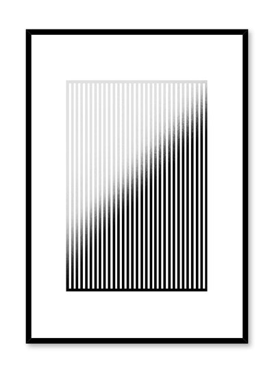 Modern minimalist abstract print by Opposite Wall with vertical lines and Faded effect