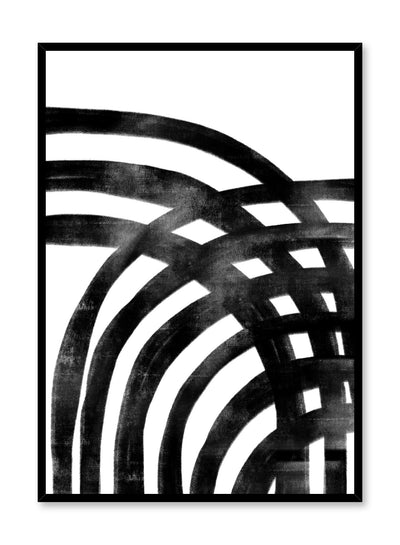 Modern minimalist poster by Opposite Wall with black and white crosshatch design illustration