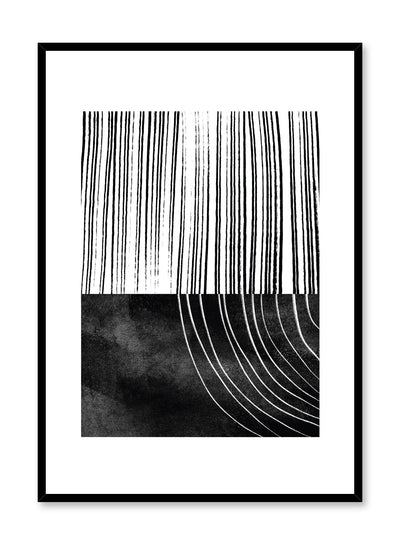 Modern minimalist poster by Opposite Wall with abstract Rooted line art