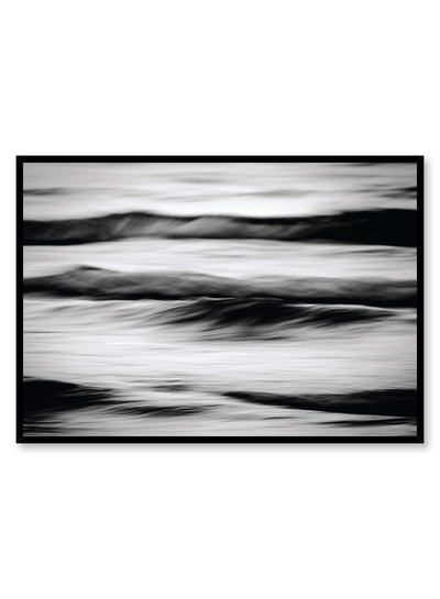 Modern minimalist poster by Opposite Wall with black and white photography of ocean waves