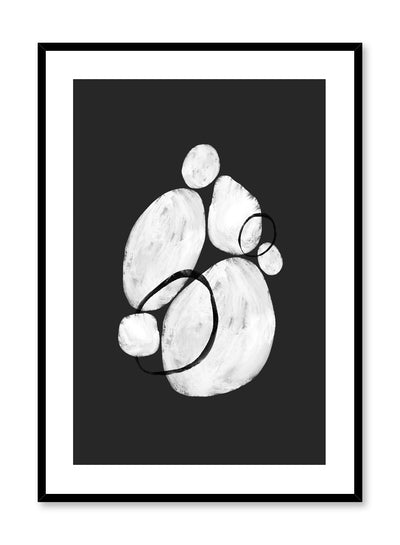 Modern minimalist poster by Opposite Wall with graphic illustration of pebbles