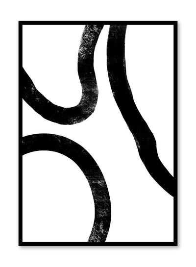 Modern minimalist poster by Opposite Wall with black and white Delicate Curves illustration