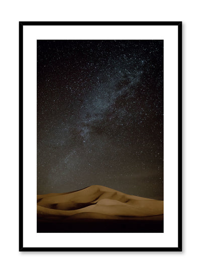Celestial photography poster by Opposite Wall with galaxy over desert