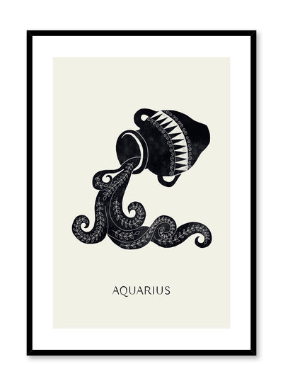Celestial illustration poster by Opposite Wall with symbol for horoscope sign Aquarius