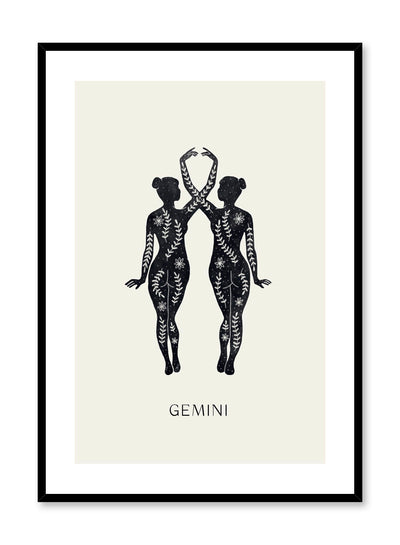 Celestial illustration poster by Opposite Wall with horoscope zodiac symbol of Gemini