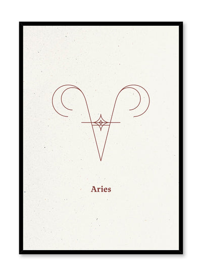 Minimalist celestial illustration poster by Opposite Wall with Aries symbol