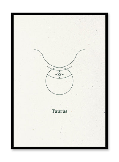 Minimalist celestial illustration poster by Opposite Wall with Taurus symbol