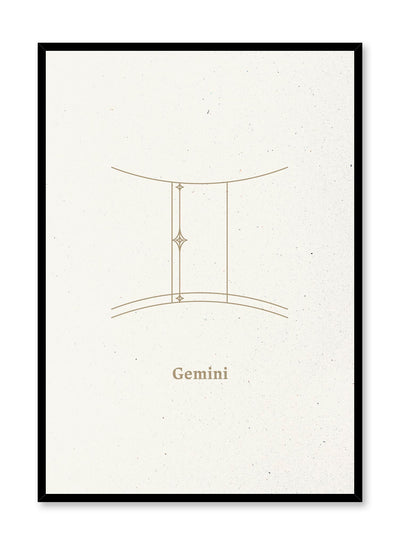 Minimalist celestial illustration poster by Opposite Wall with Gemini symbol