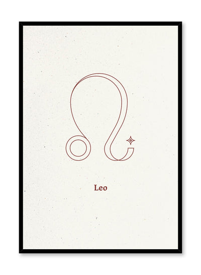 Minimalist celestial illustration poster by Opposite Wall with Leo symbol