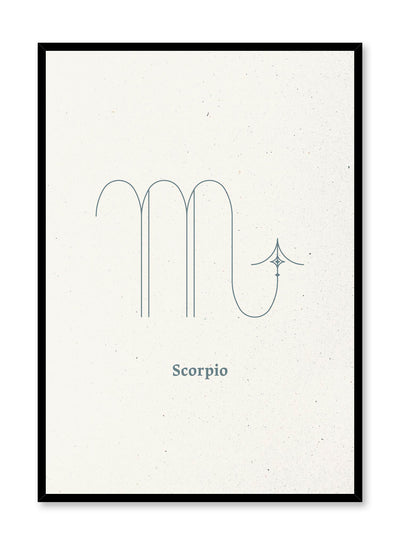 Minimalist celestial illustration poster by Opposite Wall with Scorpio symbol