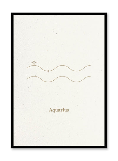 Minimalist celestial illustration poster by Opposite Wall with Aquarius symbol