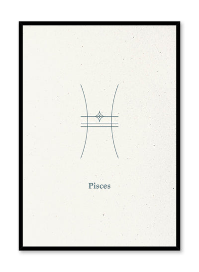 Minimalist celestial illustration poster by Opposite Wall with Pisces symbol