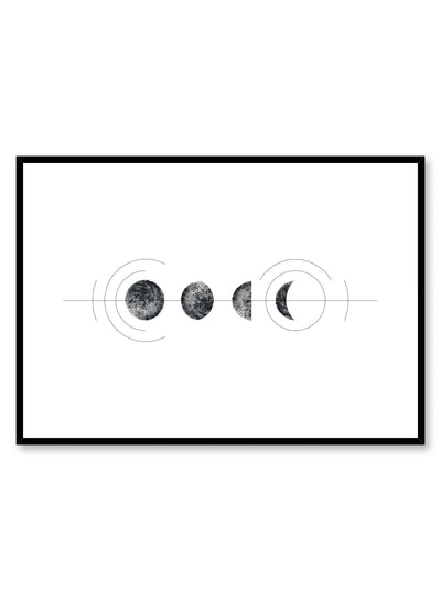 Celestial illustration poster by Opposite Wall with geometric Lunar Cycle