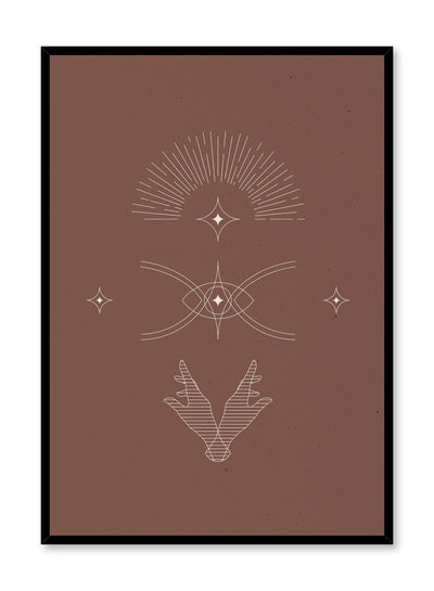 Celestial illustration poster by Opposite Wall with abstract drawing of The Cosmos