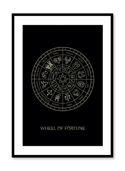 Celestial illustration poster by Opposite Wall with Wheel of Fortune Tarot card