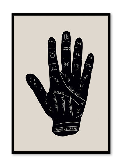 Celestial illustration poster by Opposite Wall with Palmistry drawing
