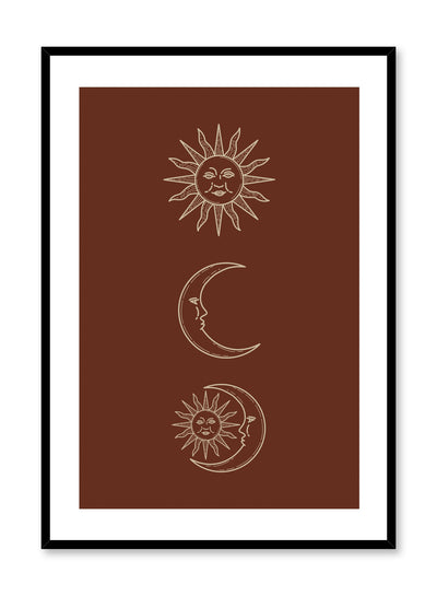 Celestial illustration poster by Opposite Wall with vintage sun and moon