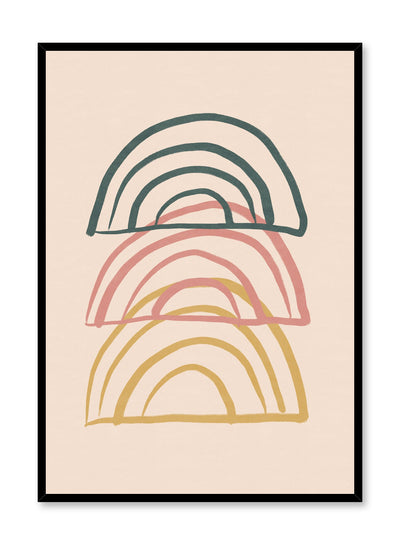 Modern minimalist poster by Opposite Wall with abstract design of Deconstructed Rainbow by Toffie Affichiste