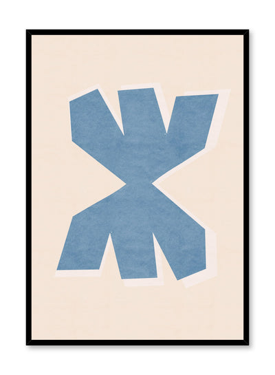 Modern minimalist poster by Opposite Wall with abstract design of Merge by Toffie Affichiste