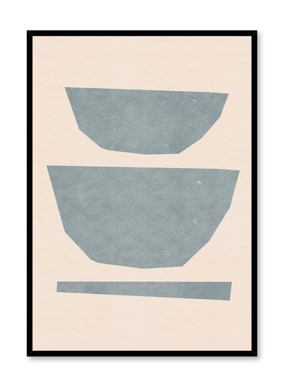 Modern minimalist poster by Opposite Wall with abstract design of Deep Dish by Toffie Affichiste