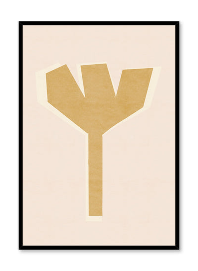 Modern minimalist poster by Opposite Wall with abstract design of Fork by Toffie Affichiste